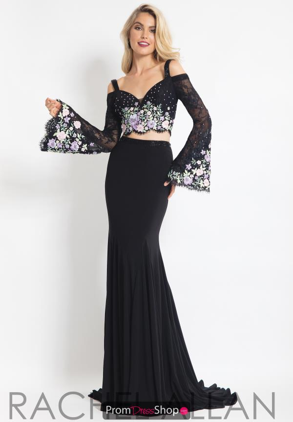 Rachel Allan Off the Shoulder Long Dress 6108