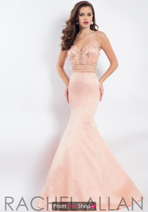 Rachel Allan Sweetheart Beaded Dress 6147