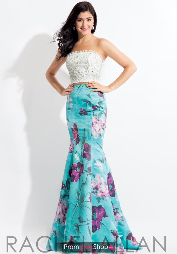 Rachel Allan Mermaid Satin Dress 6149
