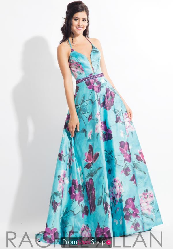 Rachel Allan Satin Long Dress 6169