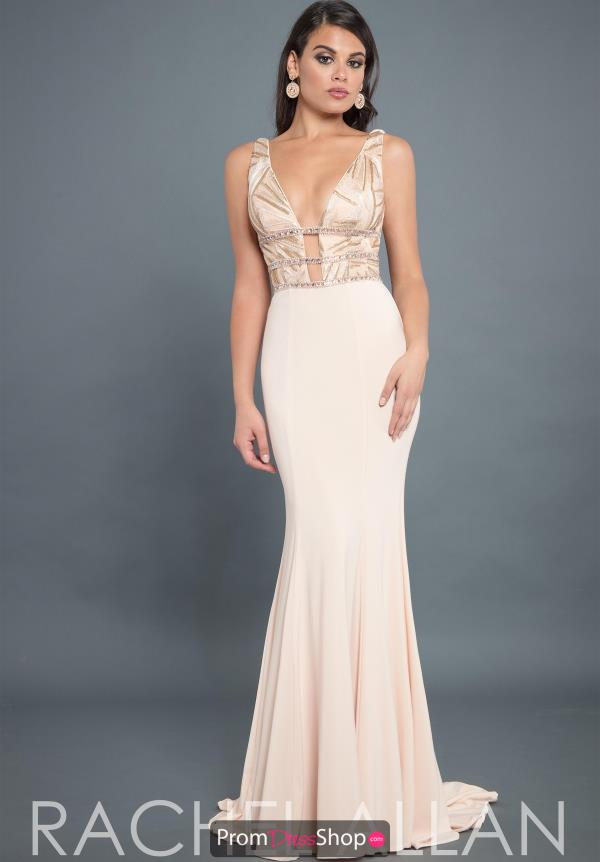 Rachel Allan Couture Fitted Jersey Dress 8304