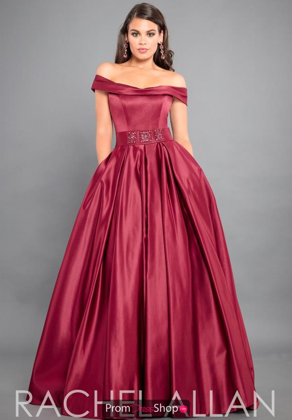 Rachel Allan Off the Shoulder Long Dress 8306