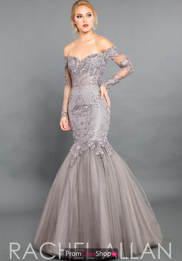 Rachel Allan Couture Mermaid Tulle Dress 8331