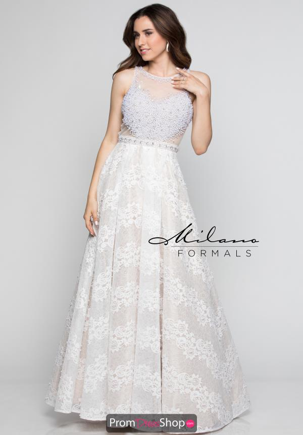 Milano Formals A Line Lace Dress E2379
