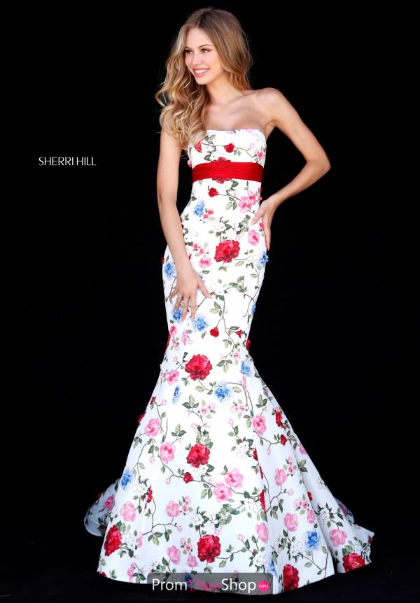 Sherri Hill Strapless Fitted Dress 51882