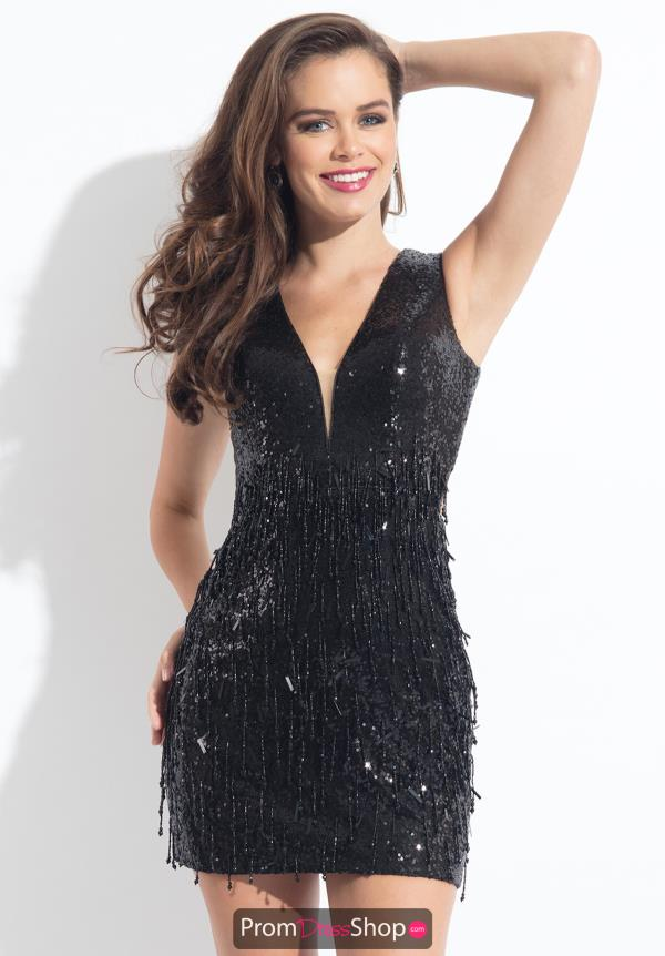 Rachel Allan LBD Sequins Open Back Dress L1145