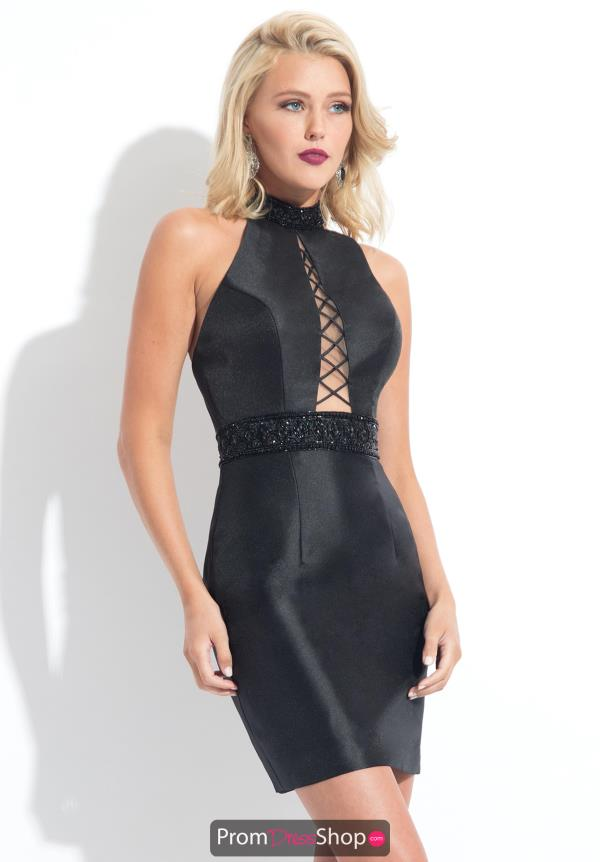 Rachel Allan LBD Mikdao Beaded Dress L1146