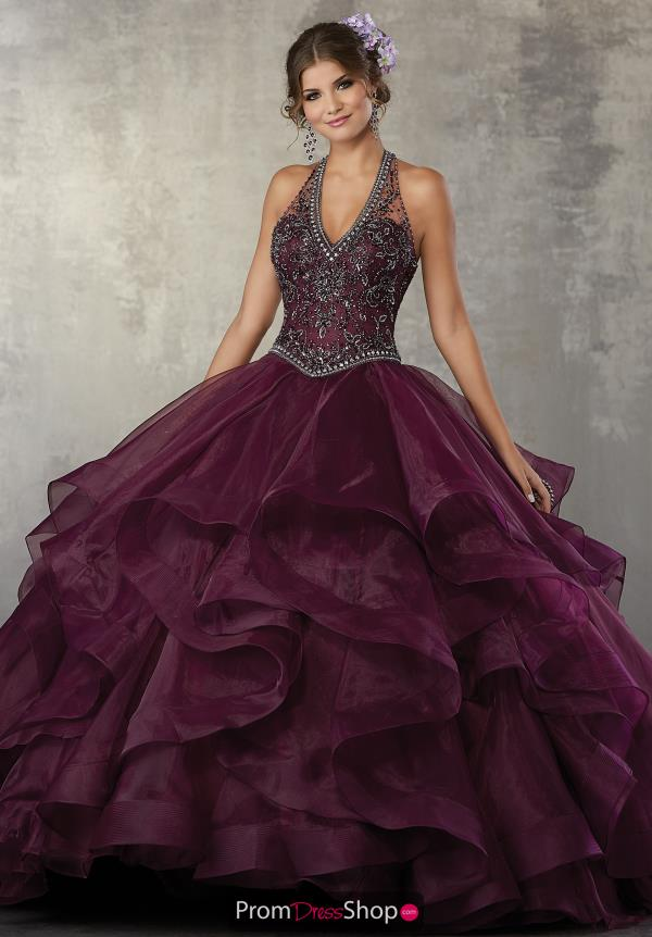 Vizcaya Quinceanera V Neckline Beaded Dress 89164