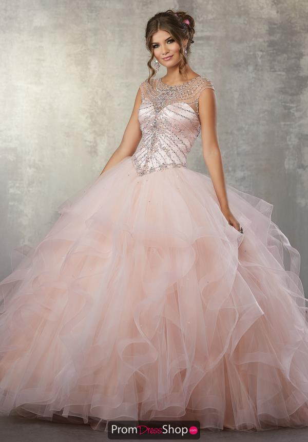 Vizcaya Quinceanera Tulle Ruffled Dress 89169