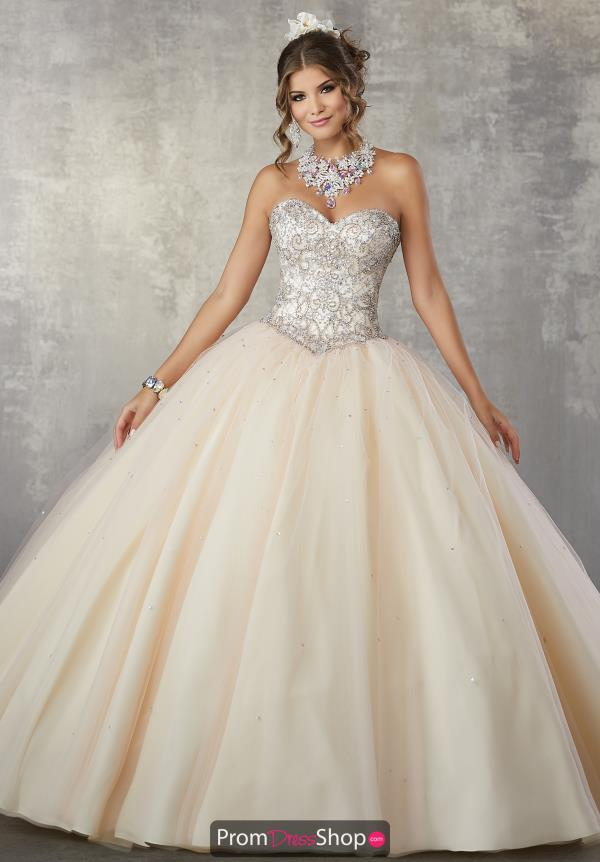 Vizcaya Quinceanera Strapless Beaded Gown 89171