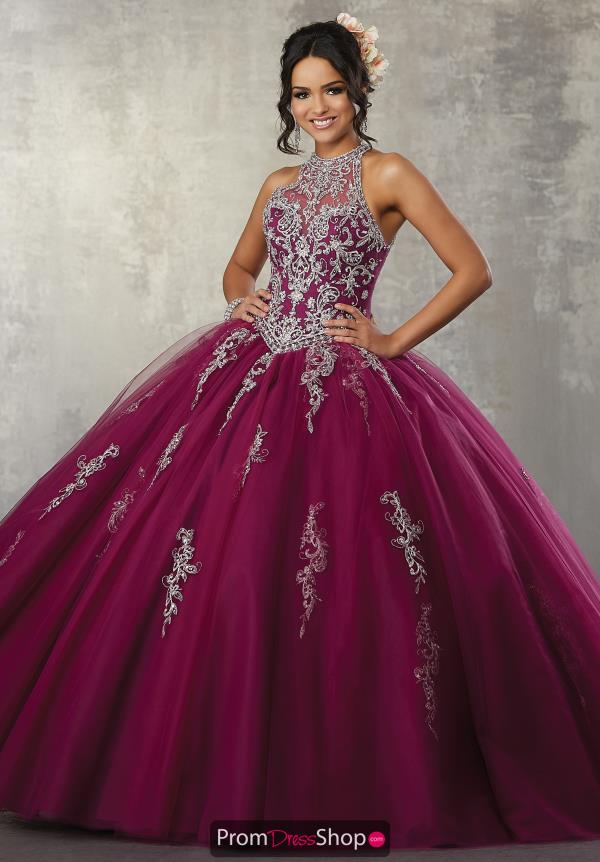 Vizcaya Quinceanera Haltered Neckline Ball Gown 89178