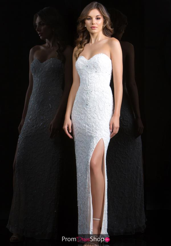Scala Fitted Ivory Dress 48816