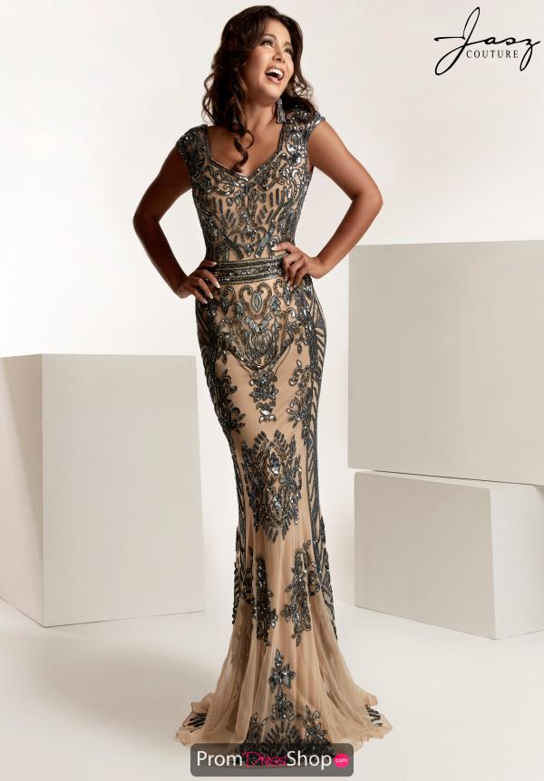 Jasz Couture Beaded Fitted Dress 1420