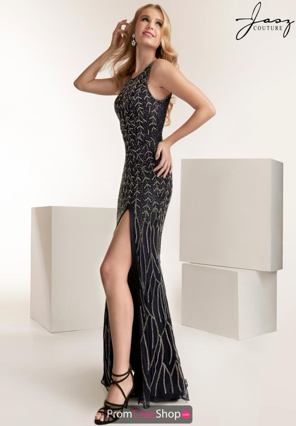 Jasz Couture Halter Fitted Dress 1422