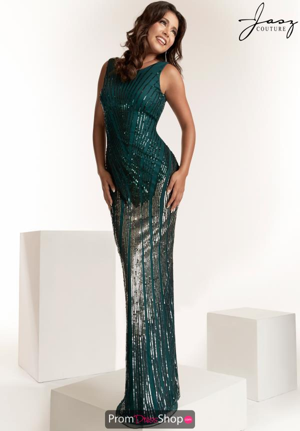 Jasz Couture Beaded Fitted Dress 1424