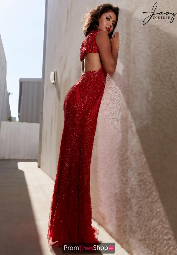 Jasz Couture Fitted Open Back Dress 1428