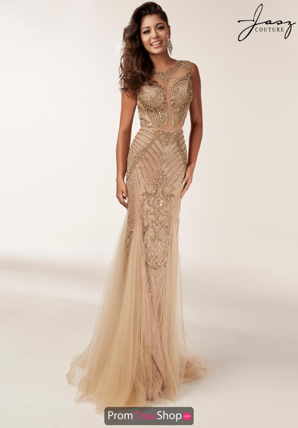 Jasz Couture Fitted Beaded Dress 6203