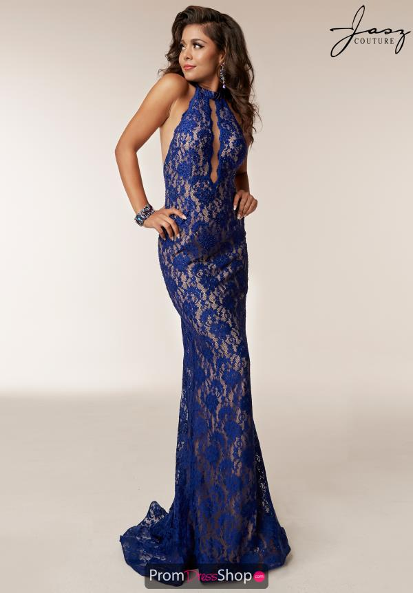 Jasz Couture Open Back Beaded Dress 6211