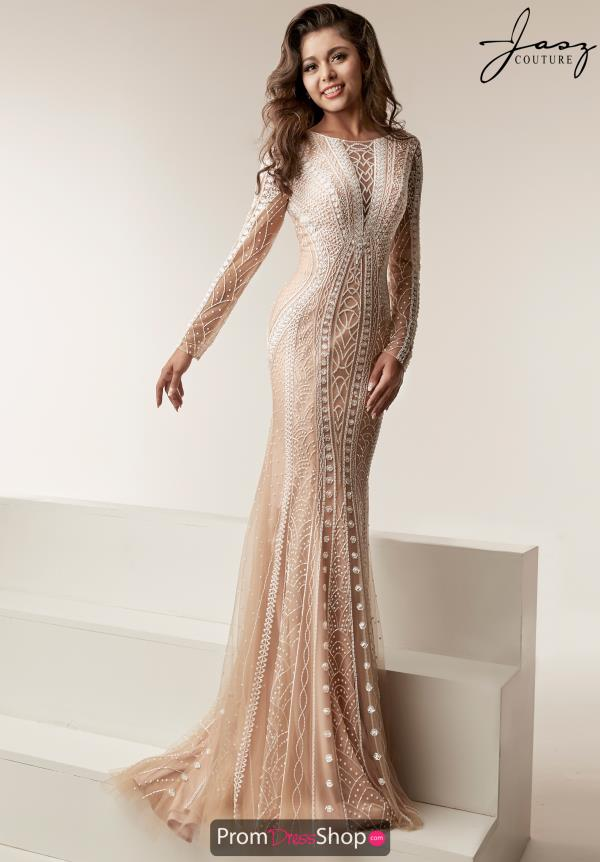 Jasz Couture Fitted Beaded Dress 6214
