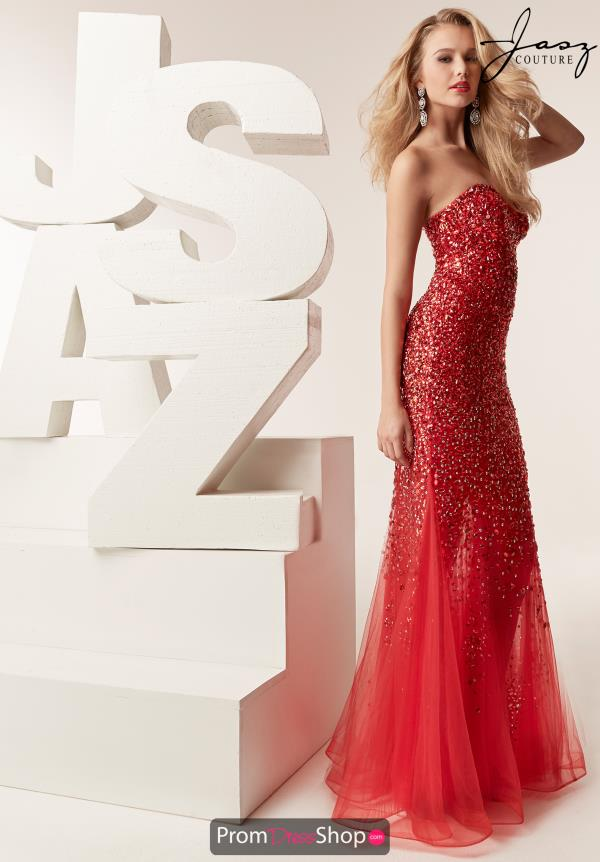 Jasz Couture Full Figured Beaded Dress 6216