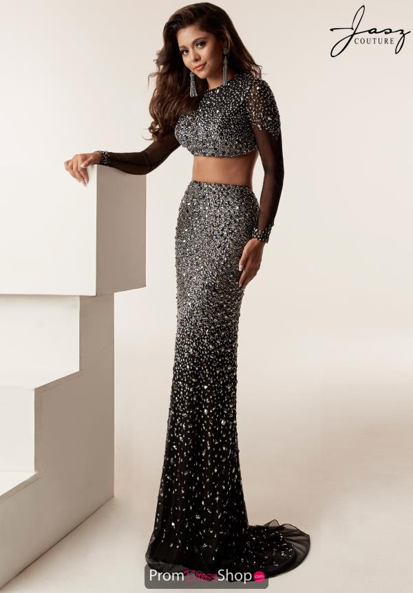 Jasz Couture Two Piece Beaded Dress 6217