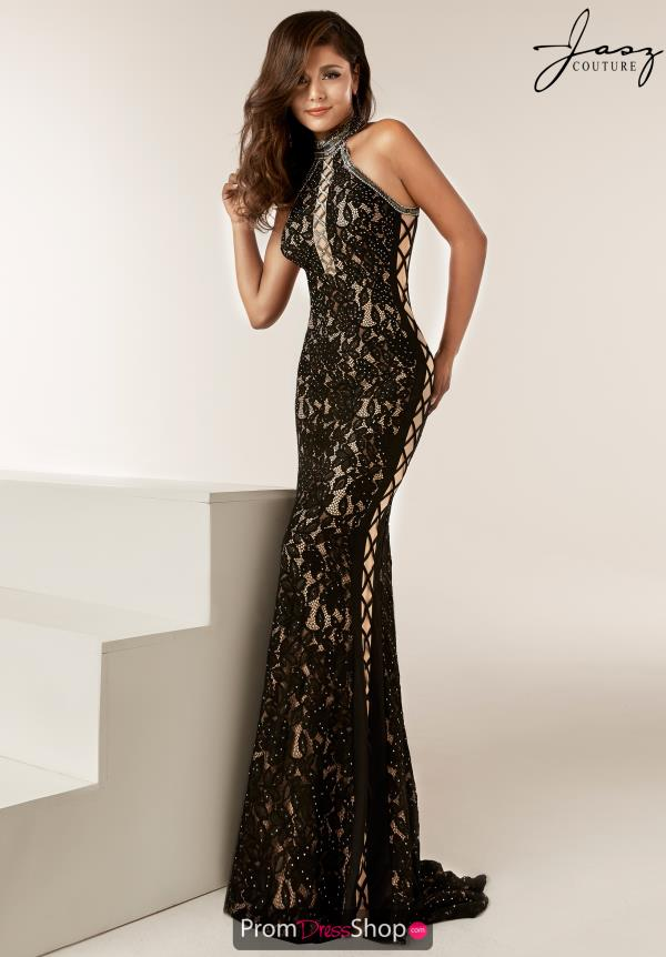 Jasz Couture Open Back Beaded Dress 6220