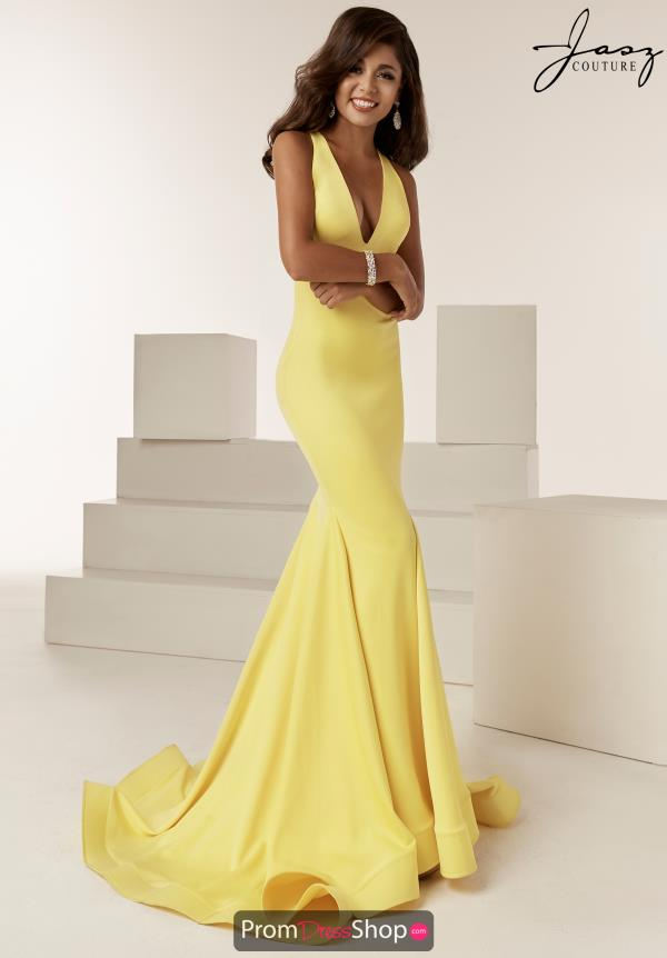 Jasz Couture Open Back Neoprene Dress 6222