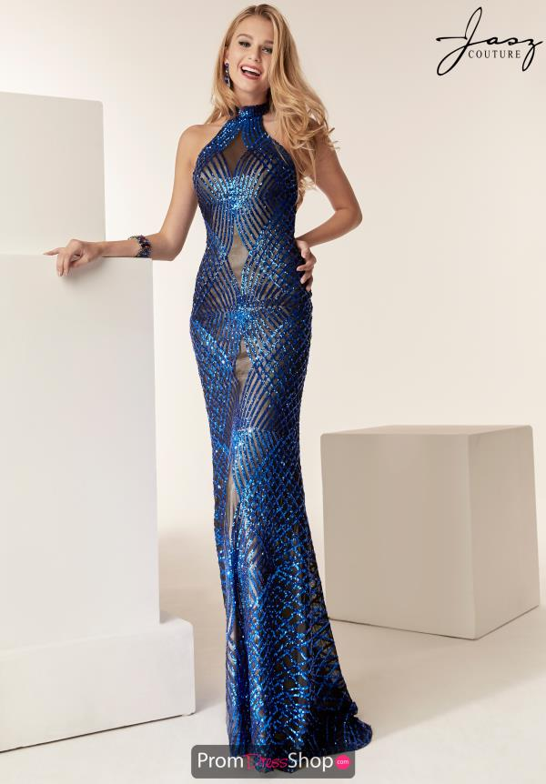 Jasz Couture Halter Fitted Dress 6224