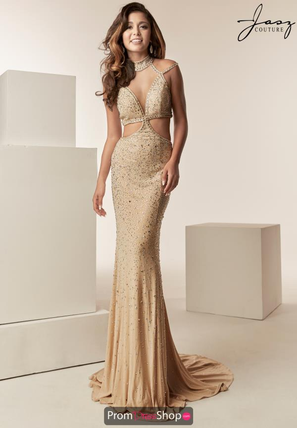 Jasz Couture Fitted Open Back Dress 6225