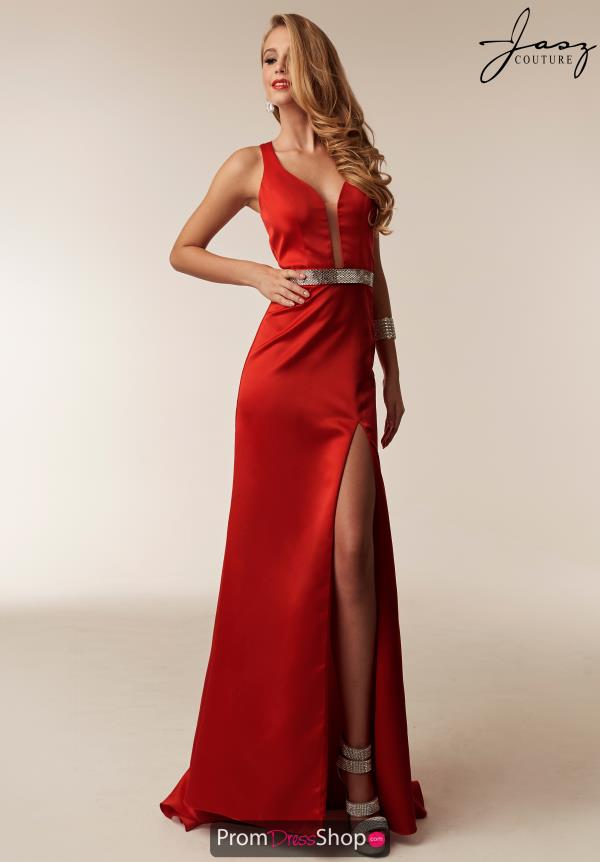 Jasz Couture V-Neck Fitted Dress 6243