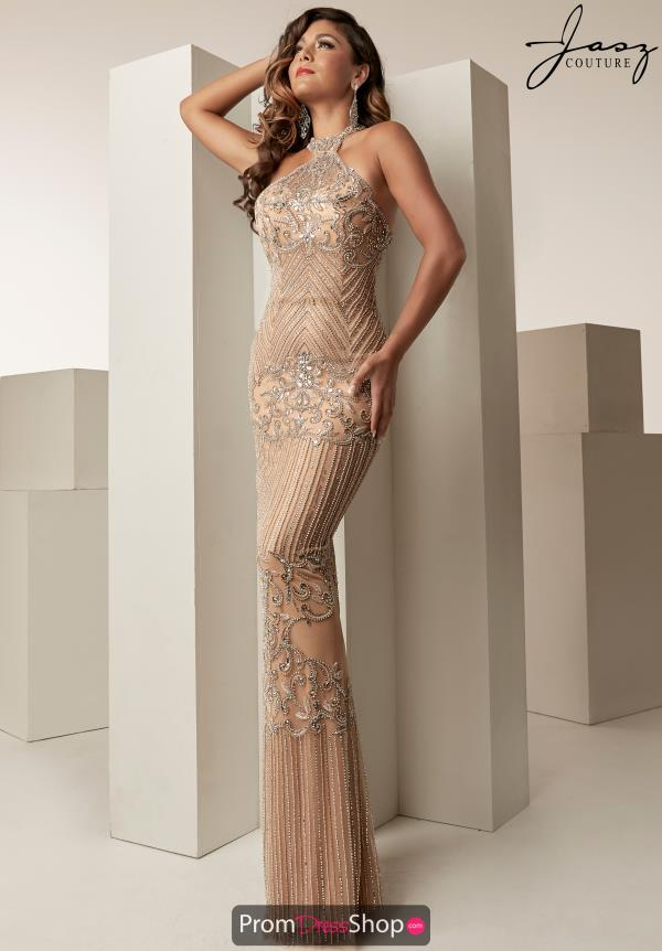 Jasz Couture Halter Fitted Dress 6256