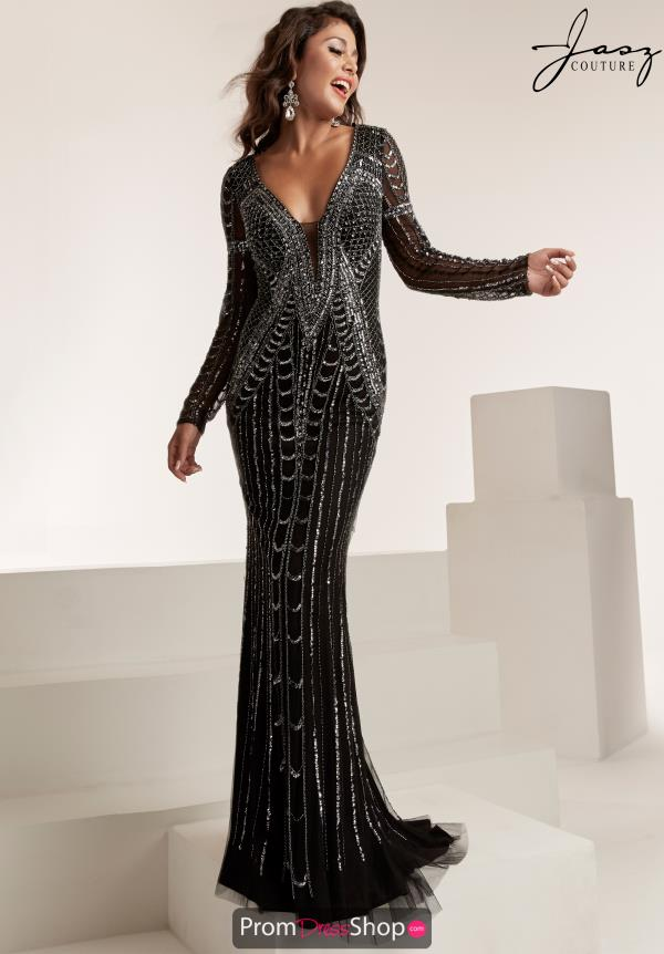 Jasz Couture Long Sleeve Fitted Dress 6311