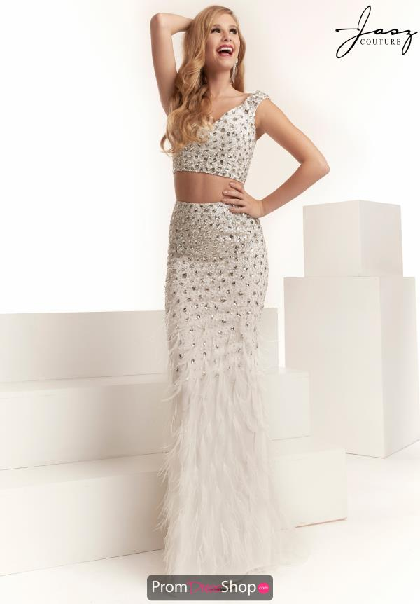 Jasz Couture Beaded V-Neck Dress 6312