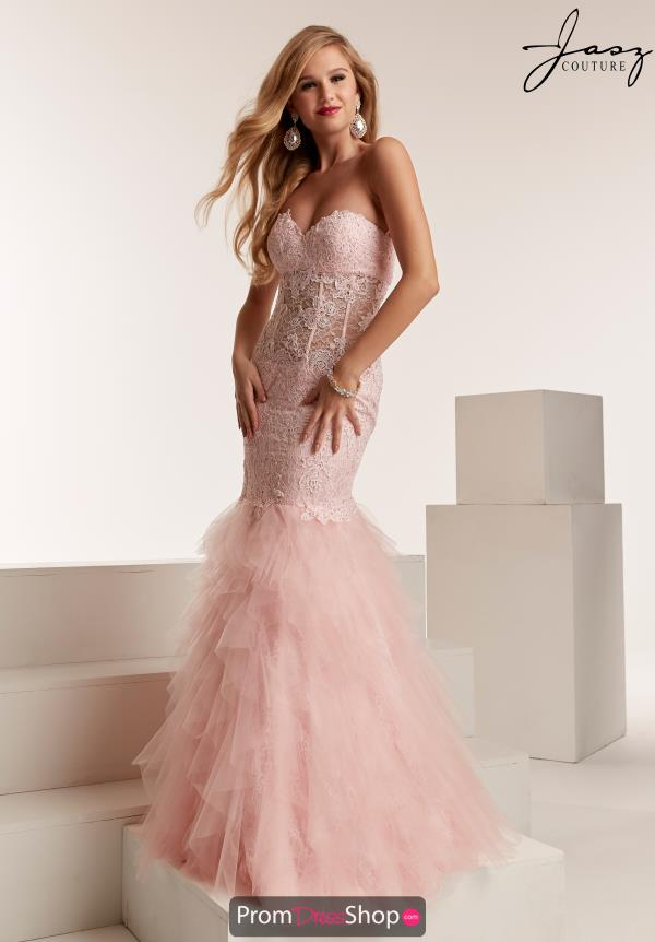 Jasz Couture Strapless Fitted Dress 6319