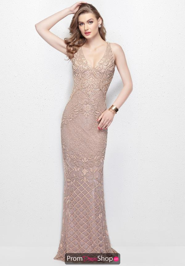 Primavera Long Beaded Dress 3029