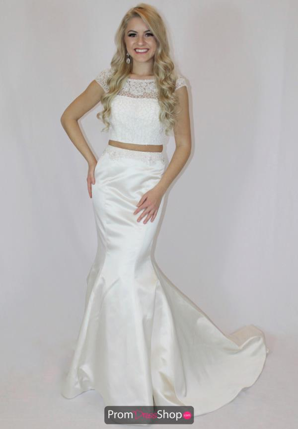 Sherri Hill Satin Fitted Dress 50953
