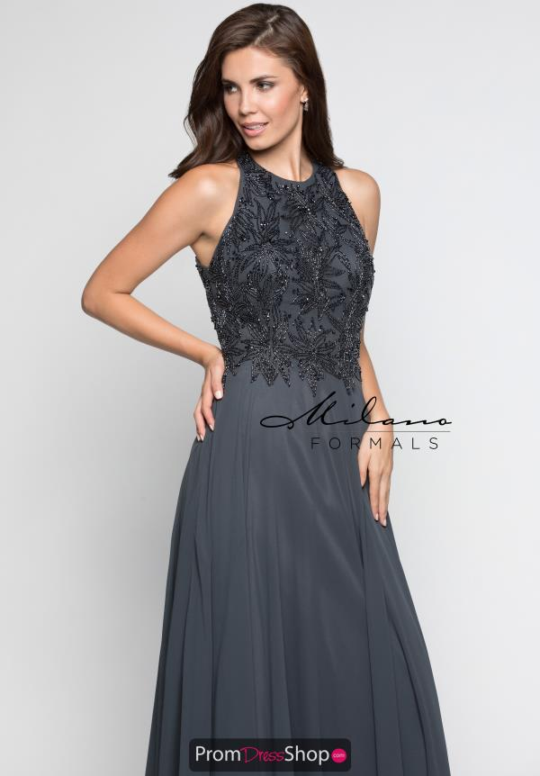 Milano Formals High Neckline Beaded Dress E2247
