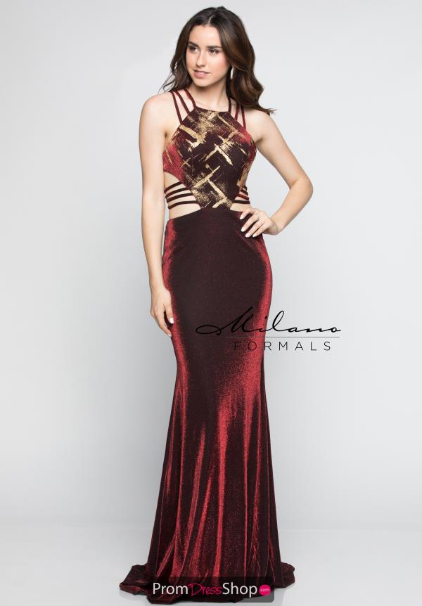 Milano Formals Long Fitted Dress E2279