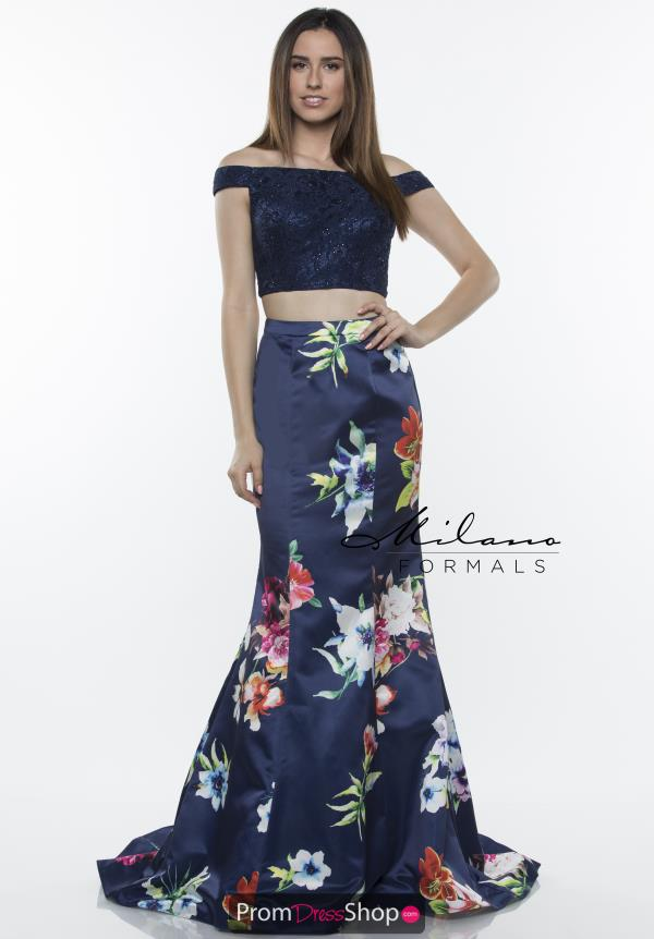 Milano Formals Two Piece Mermaid Dress E2437