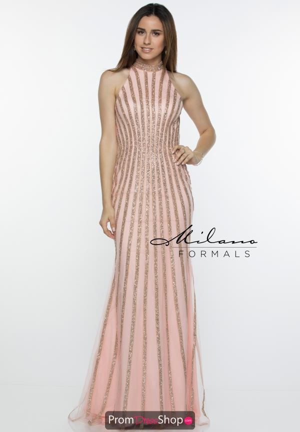 Milano Formals Long Beaded Dress E2448