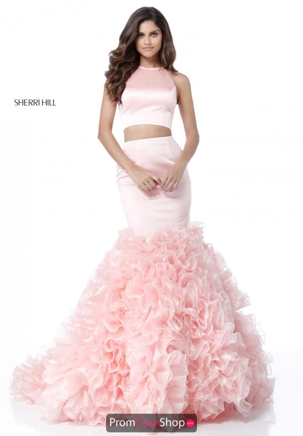 Sherri Hill High Neckline Fitted Dress 51801