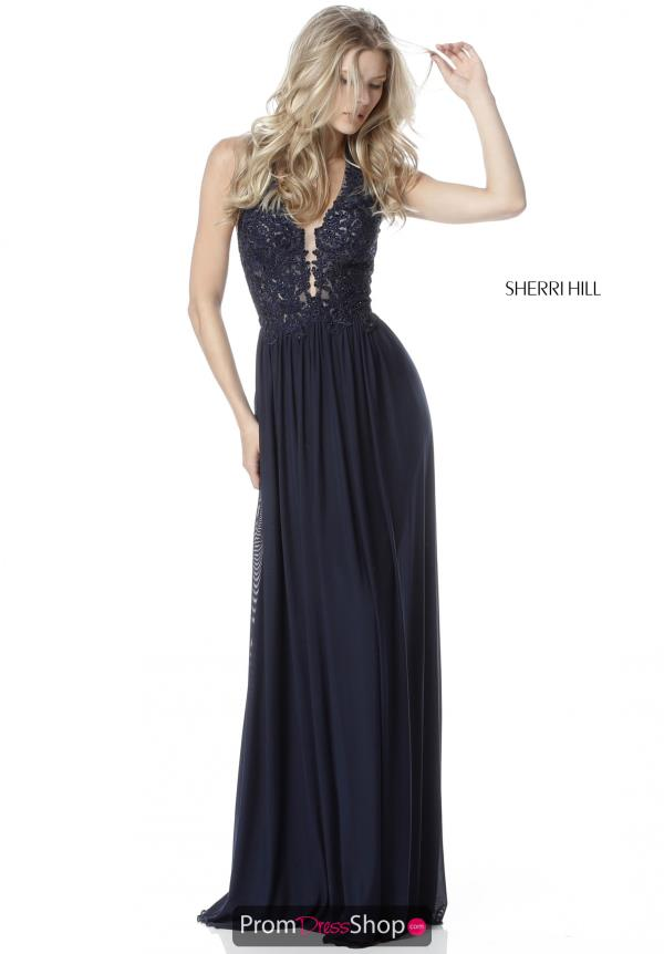 Sherri Hill V-Neck Long Dress 51553
