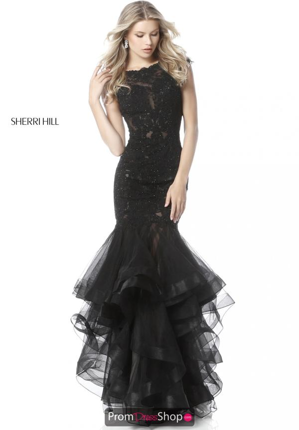 Sherri Hill Cap Sleeve Tulle Dress 51564