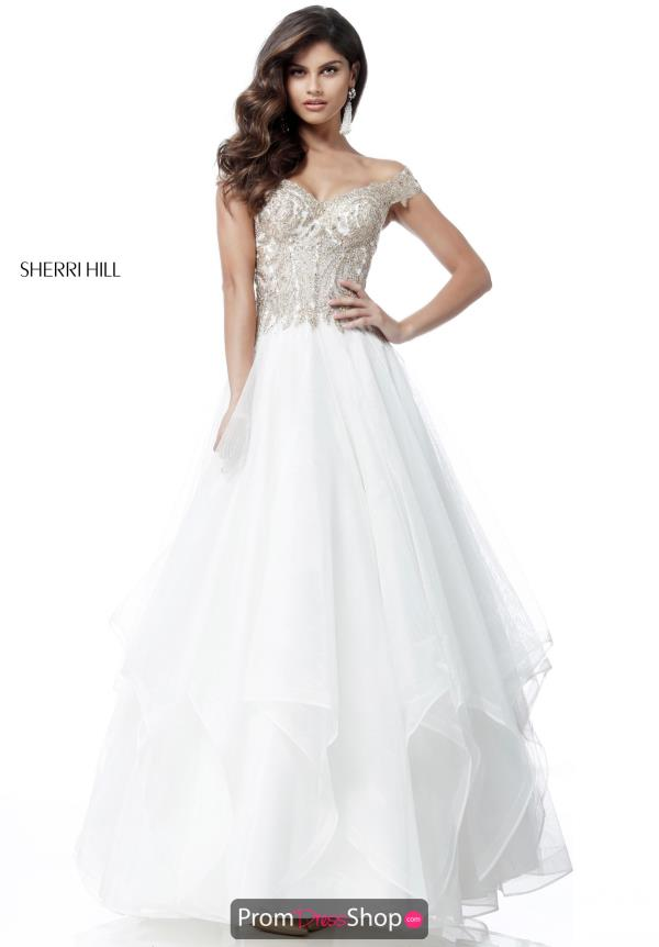 Sherri Hill Cap Sleeve Long Dress 51614