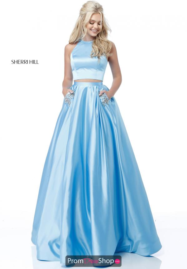 Sherri Hill Satin A Line Dress 51587