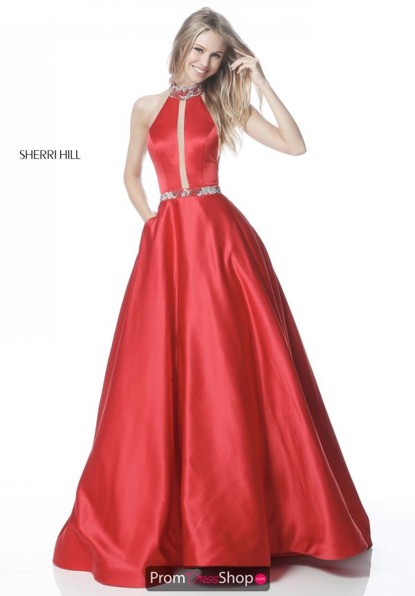 Sherri Hill Long A Line Dress 51589