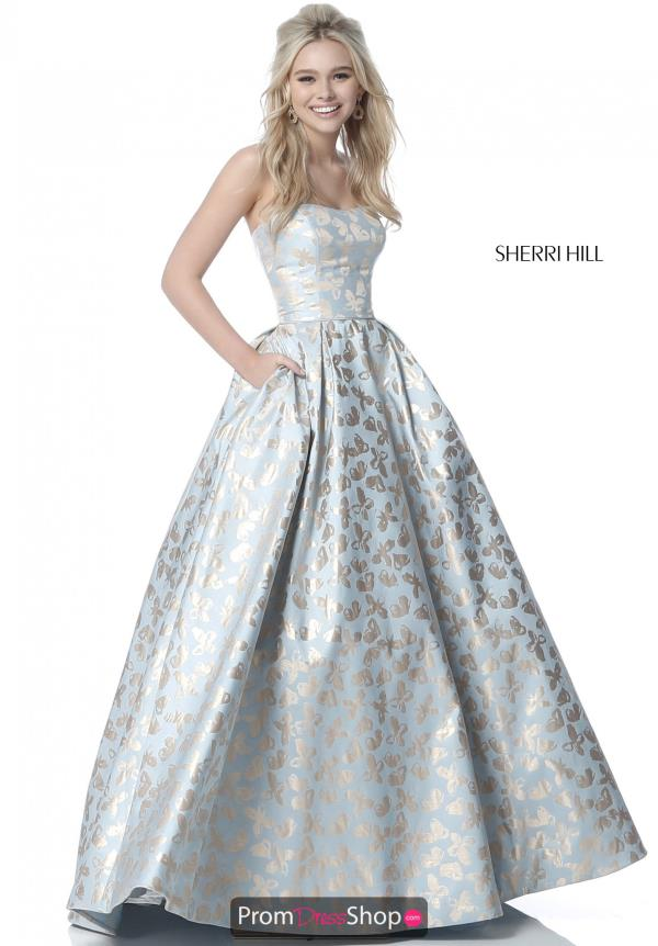 Sherri Hill A Line Long Dress 51597