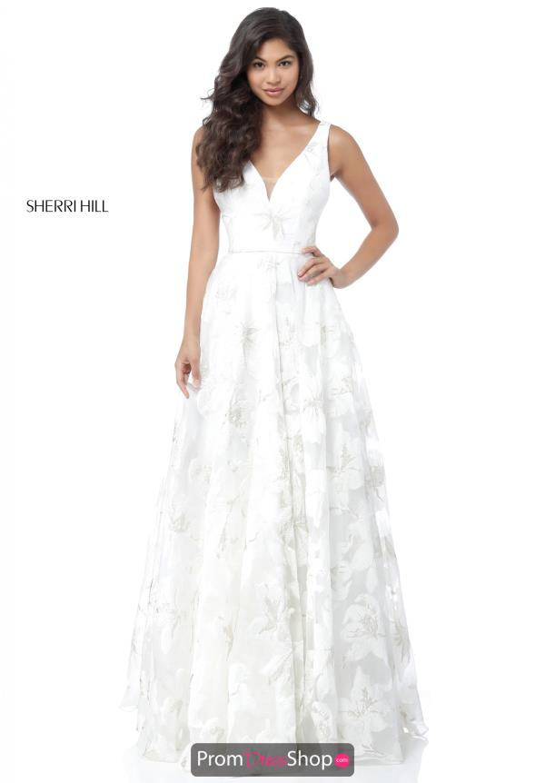 Sherri Hill Full Figured V-Neck Dress 51628