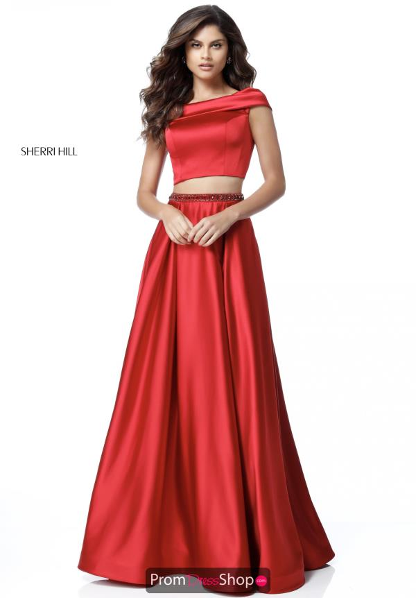 Sherri Hill Off the Shoulder Dress 51632