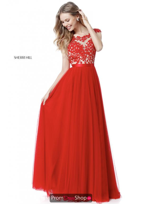 Sherri Hill A Line Long Dress 51638
